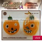 orange carved wax flameless pumpkin shaped candles