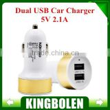 Micro Auto Universal Dual USB Car Charger 5V 2.1A Mini Car charger Adapter can for any Pad & smart phones