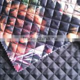 printed plaid waterproof thermal double faced quilting fabric fabric for women's winter coat