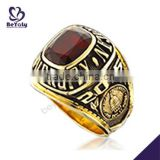 High quality red stone usssa baseball championship rings                                                                                                         Supplier's Choice
