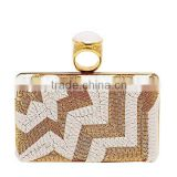 Gold buckle evening clutch bags with beads, lightning clutch bags for evening EV1106
