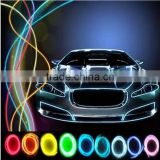 2015 Newest 9 Colors Car EL Cold Light With 1 Meter Drive Motor Auto Atmosphere String Lights LED Christmas Decorative Lights