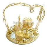 2016 gold plated gift souvenir tray T041