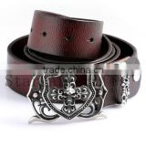 Factory offer automatic buckle belts fancy High quality leather international standard man belts for wholesale