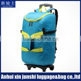 Large Capacity 1680D Nylon Bag Leaves King Trolley Travel Bag