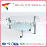 China Wholesale Custom tempered glass extendable coffee dining table