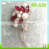 fashion funny crystal brooch, decorative safety pin brooch