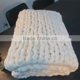 Chunky Wool Arm Knit merino wool blankets