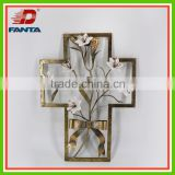Newest handmade crafts- metal wall decor with porcelain flowers