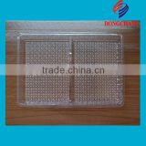clear pvc plastic blister food tray with dividers                                                                         Quality Choice