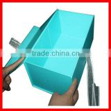 Blue Foldable Wedding Dress Packaging Box With Ribbon