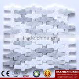 IMARK Water Jet Volakas Mixed Bianco Carrara White Marble Stone Backsplash Tile Wall Decoration