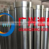 factory high quality stainless steel Flange end wire wrapped continuous slot water well screen