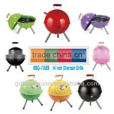 Outdoor Mini Cute Football Shape Grill BBQ-11328B Of Diffrent Colors Ceramic Grill Kamado