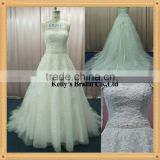 2013 style lace wedding dress with a long sleeve jack