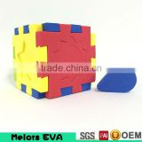 Melors new arrival OEM acceptable eva foam cube puzzle,3d foam puzzle,eva 3d foam cube puzzle for kids play