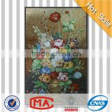 hot sale hand cut glass mosaic flower power vase glass mosaic flower wall murals oil painting flowers in vases