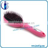 2015 Hot Sell Professional hair comb Soft nylon pin plastic Handle Salon Wooden Hair Brush Wholesale
