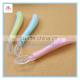 High Quality Food Grade Baby Feeding Spoon Silicone Spoon, Temperature Color Changing Silicone Baby Spoons
