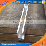 China alibaba manufacturer aluminum extrusion profile for U channel, sliding rail aluminium curtain track profile