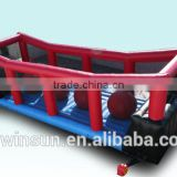 New design outdoor used commercial funny game inflatable wipeout price, inflatable wipe out rental