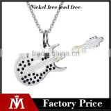 wholesale guitar pick necklace stainless steel new design Unisex pendant charm necklace