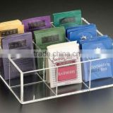 Acrylic Tea Bag 9 Compartment Drawer Tray/ drawer divider tray C1019407