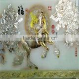modern carved marble glass wall art decor