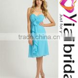 YAB001 A-line Sweetheart Chiffon Ruffle Bridesmaid Dresses