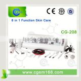 Skin Care 8 In 1 Multi Function Salon Iontophoresis Product Ultrasonic Facial Professional Beauty Center Equipment