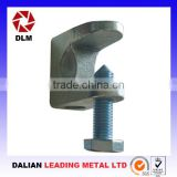 OEM malleable cast iron casting steel thread rod slide bar woodworking H-shaped purlin clamping apparatus Girder Clamps
