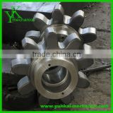 High precision cnc forging parts, cnc lathe parts, carbon steel cnc machining wheel gear