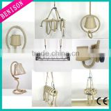 2016 New hemp rope material camping Pendant Lamp metal Hanging Antique round rectangle decoration lighting with lampholder BS