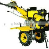 Modern 178F mini diesel engine electric start tiller plough,rotary,ditching farm machine
