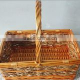 Wholesale empty willow flower vase baskets