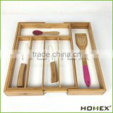 Bamboo kitchen utensil tray for drawer Homex-BSCI
