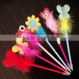 Wholesale yiwu craft flower and butterfly promotional feather pen