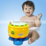 Funny hand drum placstic toy with light and music for baby
