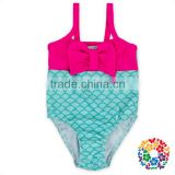 Summer Baby Girls One Piece Swim Suit Children Swim Wear With Cotton Bow Little Girl Mermaid Swimsuit Beachwear