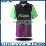 Custom sublimated racing crew shirts with full sublimation printing