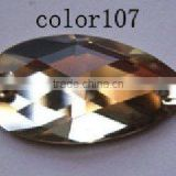 crystal glass jewelry flat beads