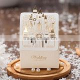 Romantic Wedding Favors Gift Box and Cord decoration Elegant Luxury White Party invited Laser Cut Sweet Candy box