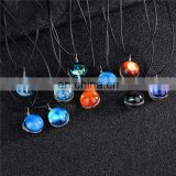Handmade Double Glass Ball Ladies Necklace Universe Moon Fantasy Star Time Gem Glowing Necklace
