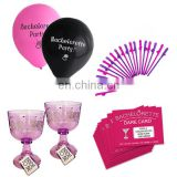 Bachelorette party balloons ,bride to be cups, bachelorette party staws and dare cards kits