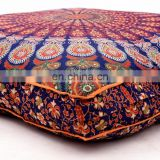 "Latest Design Cushion Cover Meditation Pillow Case Cushion Cover Dog Bed Square Ottoman Pouf 35*35"" Indian 2017"