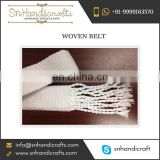 Sale of Woven Cotton Wide Belt for Ladies at Cheap Price