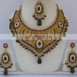 INDIAN EXCLUSIVE BRIDAL JEWELRY NECKLACE SET