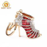Fashion Bag Accessories Red High Heel Shoe Crystal Keychain