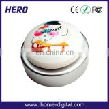 Promotion custom pull string button music push button for promotion