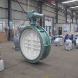 DN1400 PN10 Triple offset butterfly valve eccentric disc metal seated high performance carbon steel body